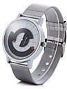 Masculino Relógio de Moda Único Criativo relógio Quartzo Relógio Casual Lega Banda Prata Branco Preto