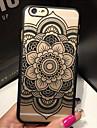 아이폰 기가 6을 더한 복고풍 꽃 무늬 투각 구호 인쇄 PC 소재 휴대 전화 케이스
