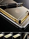 marque kx version en or cadre métallique acrylique tout cas difficile de miroir fond de panier métallique pour iPhone 6 plus (couleurs assorties)
