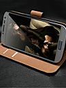 Чехол с подставкой из натуральной кожи и слотом для карты памяти для Samsung Galaxy S4 Мини I9190
