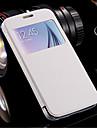 Окно кожа флип прозрачный прозрачный чехол задняя крышка для Samsung Galaxy S6 край