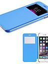 смарт-сенсорный экран вид пу кожаный чехол для Iphone 6с 6 плюс