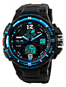 Skmei® Men's Big Size Dial Dual Time Zone Outdoor Sports Multifunction Wrist Watch 30m Waterproof Assorted Fashion Colors Cool Watch Unique Watch