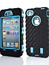 2 em 1 armadura estilo robô PC e silicone Capa composto para iPhone 4 / 4S
