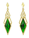 Drop Earrings Gemstone Alloy Drop Black Yellow Red Green Blue Jewelry Party Daily