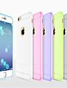 Pour Coque iPhone 6 Coques iPhone 6 Plus Ultrafine Dépoli Translucide Coque Coque Arrière Coque Couleur Pleine Flexible Silicone pour