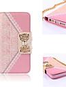 Elegant Design Cute Flip Wallet Leather Case for iPhone 4/4S