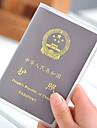 1 Pça. Porta-Documento Capa para Passaporte Prova de Água Á Prova-de-Pó Ultra Leve (UL) Portátil para Organizadores para Viagem PVC