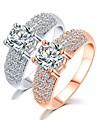 Statement Ring Gold Silver Zircon Designer Unique Ring Geometric Ring