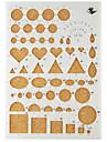 шаблон для макияжа рюш бумаги DIY Craft искусства украшения 22x15.5cm