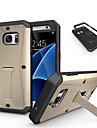 Pour Samsung Galaxy Coque Antichoc Avec Support Coque Coque Arrière Coque Armure Polycarbonate pour Samsung S7 S6