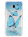 용 삼성 갤럭시 케이스 투명 / 패턴 케이스 뒷면 커버 케이스 버터플라이 TPU Samsung J5 / Grand Prime / Core Prime