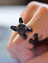Ring Daily / Casual Jewelry Alloy Women Statement Rings 1pc,Adjustable Black