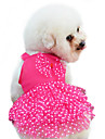 Dog Dress Dog Clothes Fashion Polka Dots Bowknot Yellow Ruby Blue Blushing Pink