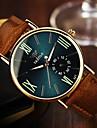 YAZOLE Мужской Наручные часы Кварцевый Кожа Группа Повседневная Коричневый