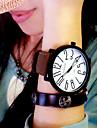 Masculino Mulheres Unissex Relógio de Moda Quartzo Couro Banda Preta Marrom Marron Preto/Branco Preto Branco/Marron