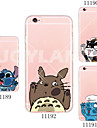 For iPhone 7 MAYCARI®Snoopy Face Soft Transparent TPU Back Case for iPhone 5/5S