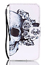 For Samsung Galaxy S7 Edge Wallet / Card Holder / with Stand / Flip Case Full Body Case Skull PU Leather Samsung S7 edge / S7