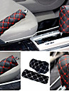 cas de frein à main ziqiao& cas de changement de vitesse accessoire intérieur de la voiture 2pcs / set