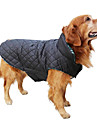 Chien Manteaux Gilet Rouge Vert Marron Beige Vêtements pour Chien Hiver Printemps/Automne Tartan Garder au chaud Réversible