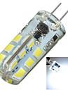 3W G4 Двухштырьковые LED лампы Утапливаемое крепление 24 SMD 2835 200-300 lm Холодный белый Декоративная DC 12 / AC 12 V 1 шт.