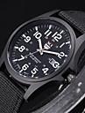 남성 밀리터리 시계 손목 시계 석영 섬유 밴드 블랙 화이트 브라운 그린