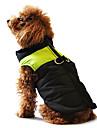 Собаки Плащи Жилет Красный Оранжевый Желтый Зеленый Синий Черный Розовый Одежда для собак Зима Весна/осень Цветовые блокиНа каждый день