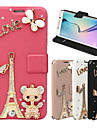 Elegant Stylish Synthetic Leather TPU Bear Butterfly Protective Case For Samsung Galaxy J1/J5/J7/Grand Prime/Core Prime