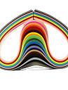 120шт 5mmx53cm рюш бумаги (24 цветов x5 шт / цвет) DIY Craft художественное оформление