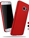 Para Samsung Galaxy S7 Edge Áspero Capinha Capa Traseira Capinha Cor Única PC Samsung S7 edge / S7 / S6
