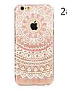 Para iPhone X iPhone 8 iPhone 7 iPhone 7 Plus iPhone 6 iPhone 6 Plus Case Tampa Estampada Capa Traseira Capinha Mandala Rígida PC para