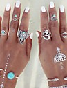 Statement Rings Midi Rings Knuckle Ring Fashion Personalized Adjustable Alloy Animal Shape Triangle Shape Silver Jewelry ForParty Daily