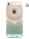 """подсолнечника окрашены шаблон жесткий пластик задняя крышка для iphone5s / iphonese 4.0 """""""