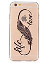 Pour Coque iPhone 6 Coques iPhone 6 Plus Transparente Coque Coque Arrière Coque Plume Flexible PUT pouriPhone 7 Plus iPhone 7 iPhone 6s