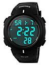 SKMEI Masculino Relógio Esportivo Relogio digital Digital LCD Calendário Cronógrafo Impermeável alarme Borracha Banda Preto