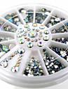 1wheel White Shiny AB Rhinestone 3d Nail Art Decorations
