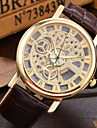 Men's Fashionable  Wrist Mechanical Watches Leather Band Wrist Watch Cool Watch Unique Watch