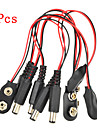 5 Pcs Experimental 9V Battery Snap Power Cable Adapter for Arduino Raspberry Pi