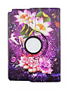 Для Кейс для  Samsung Galaxy со стендом / Флип / Поворот на 360° / С узором Кейс для Чехол Кейс для Цветы Искусственная кожа SamsungTab A