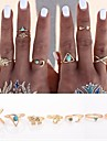 Ring Daily / Casual Jewelry Alloy Women Statement Rings / Set 7pcs,Adjustable / One Size Gold