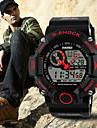 SKMEI Masculino Relógio Esportivo Digital Impermeável Silicone Banda Preta