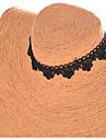 목걸이 초커 목걸이 토크 고딕 양식의 보석 문신 초커 보석류 결혼식 파티 Halloween 일상 캐쥬얼 타투 스타일 레이스 패브릭 1PC 선물 블랙
