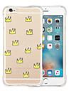 Para Capinha iPhone 6 / Capinha iPhone 6 Plus Antichoque / Transparente / Estampada Capinha Capa Traseira Capinha Azulejos Macia Silicone