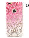 """flor mandala pattern pintado tampa traseira de plástico rígido para iphone6 / 6s 4.7 """""""