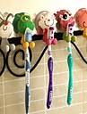 ПВХ мультфильм всасывания для зубных щеток (случайный цвет)