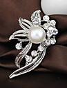 Wedding Style Elegant Silver Plated Rhinestone Brooch(Random Color)