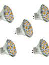 2w gu4 (mr11) projecteur led mr11 12 smd 5730 240-260 lm chaud / cool blanc décoratif dc 12 v 5 pcs