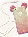 Lanyard Gradient Glitter Mickey Ears TPU Phone Case For iPhone 5/5S/SE