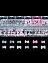 60PCS 12 Design Random Acrylic Resin Bowtie Set3 Nail Art Decoration