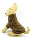 Cat / Dog Sweater Brown Dog Clothes Winter / Spring/Fall Solid